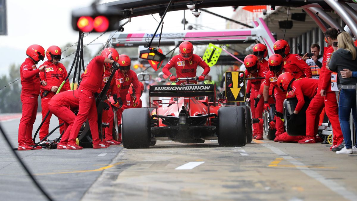 Charles Leclerc and the Ferrari SF 1000 during the day 6 of the formula 1 testing, on 27 February 2020, in Barcelona, Spain.