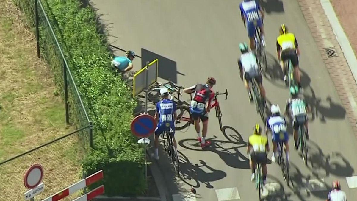 BinckBank Tour - Stage 6 - Valgren Andersen crash