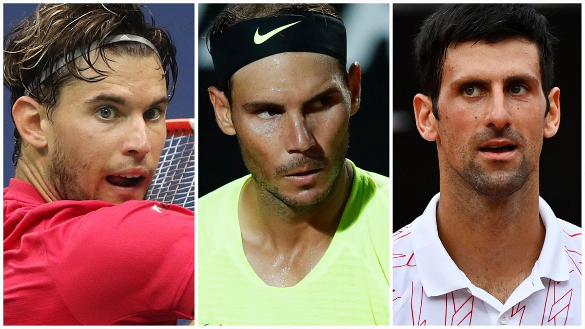 Dominic Thiem, Rafael Nadal and Novak Djokovic are the three favourites for the French Open
