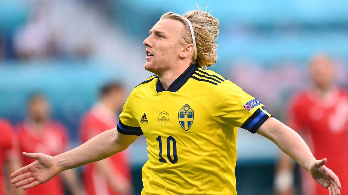 Emil Forsberg hat im Vorrundenspiel gegen Polen das zweitschnellste Tor bei einer EM-Endrunde erzielt