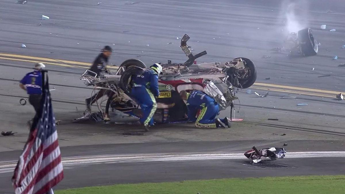 Austin Dillon's crash (Screengrab from NASCAR.com)