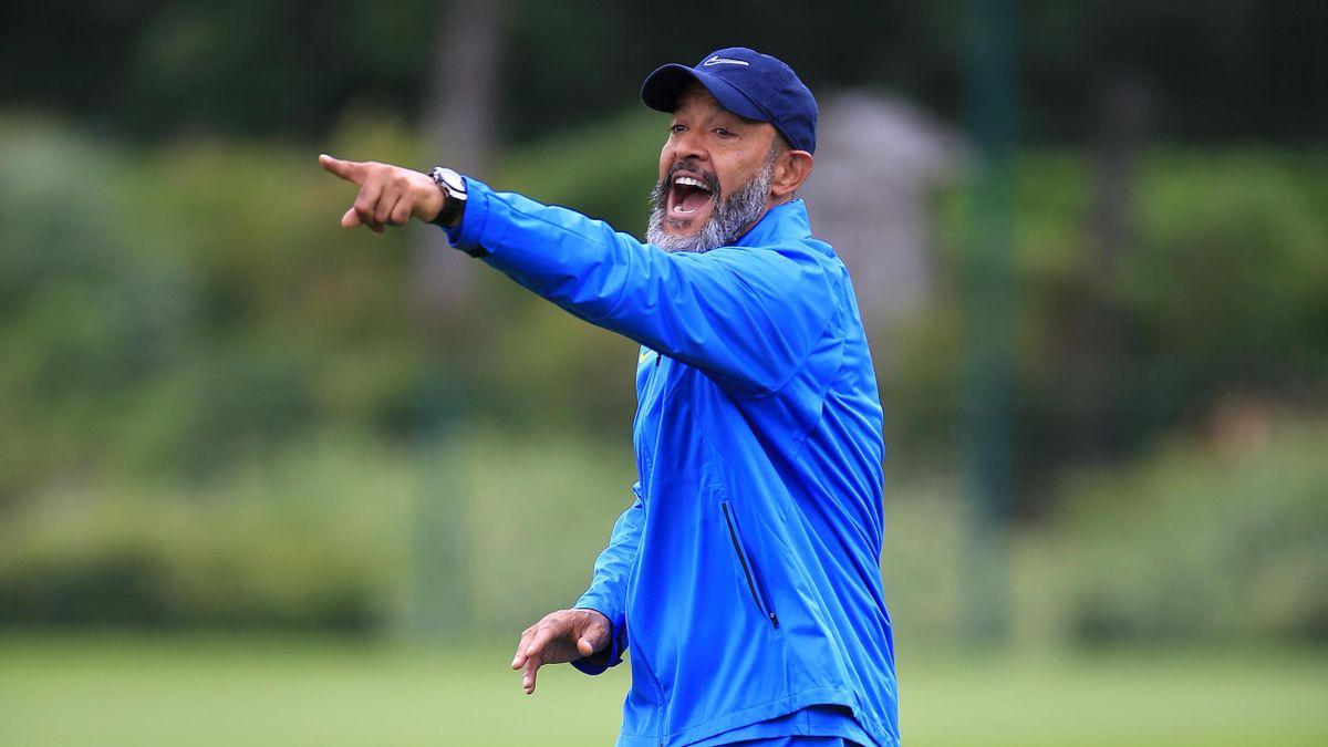 Tottenham Hotspur Manager Nuno Espirito Santo during a Tottenham Hotspur Pre-Season Training Session on July 07, 2021 in Enfield