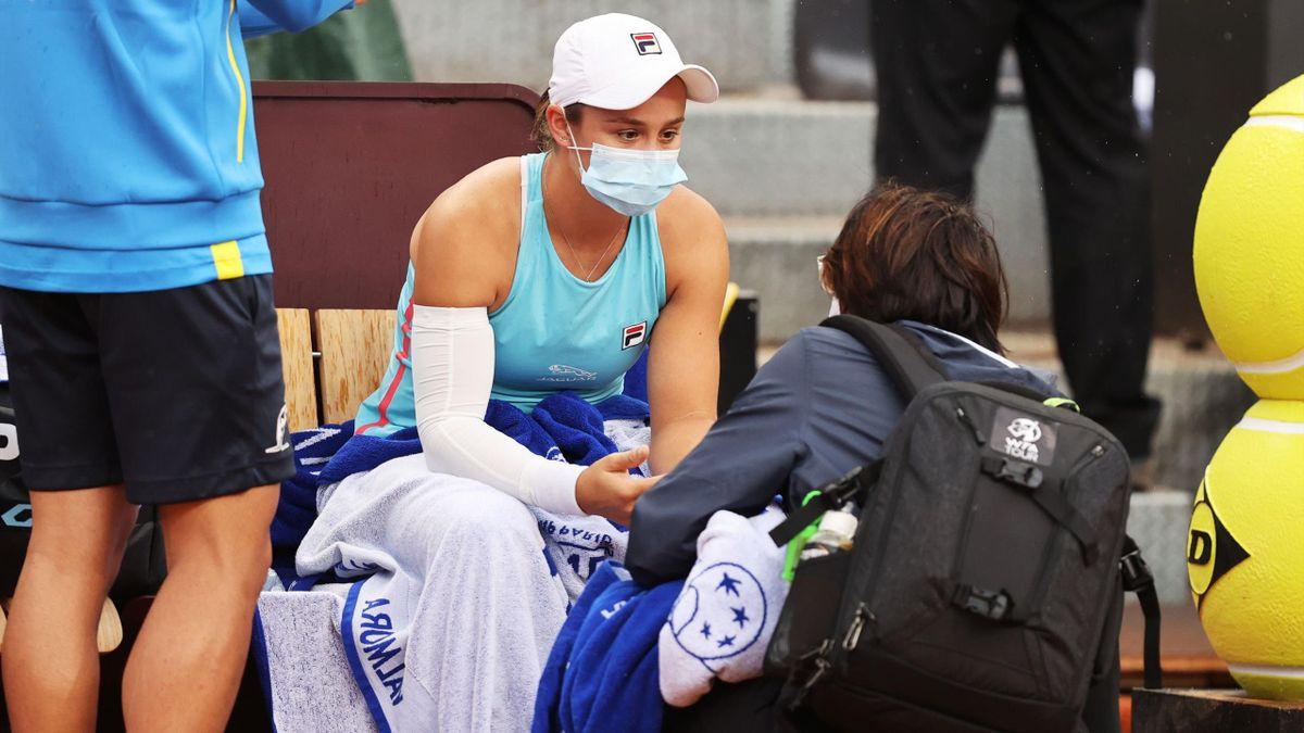 Ashleigh Barty musste in Rom verletzt aufgeben