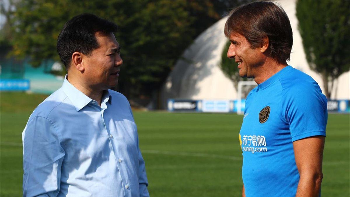 Zhang Jindong e Antonio Conte - Inter