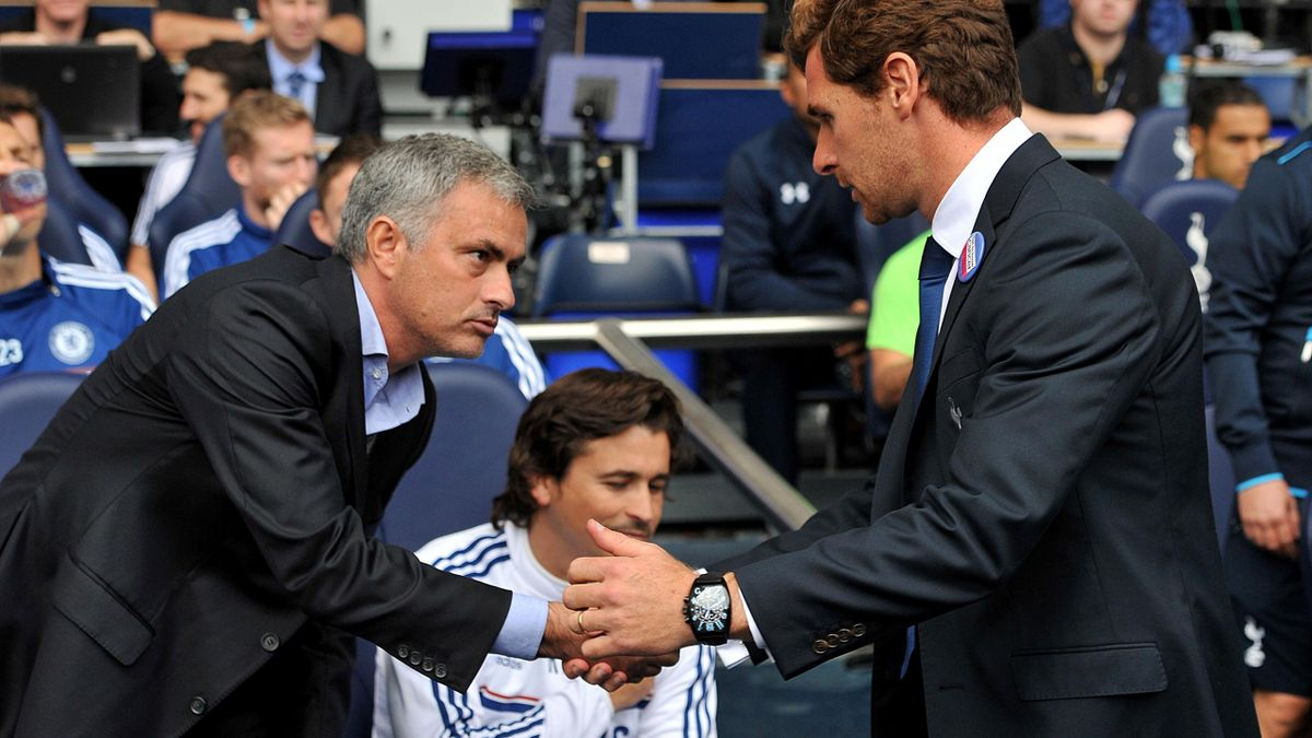 Andre Villas Boas shakes hands with Jose Mourinho (PA Photos)