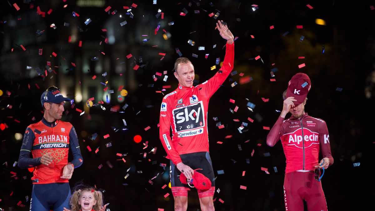 Chris Froome, vainqueur du Tour d'Espagne 2017.