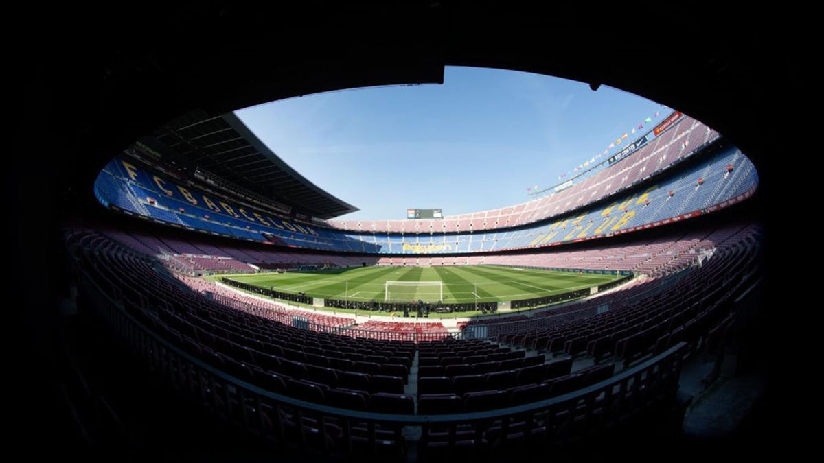 A general panoramic view inside Nou Camp Stadium