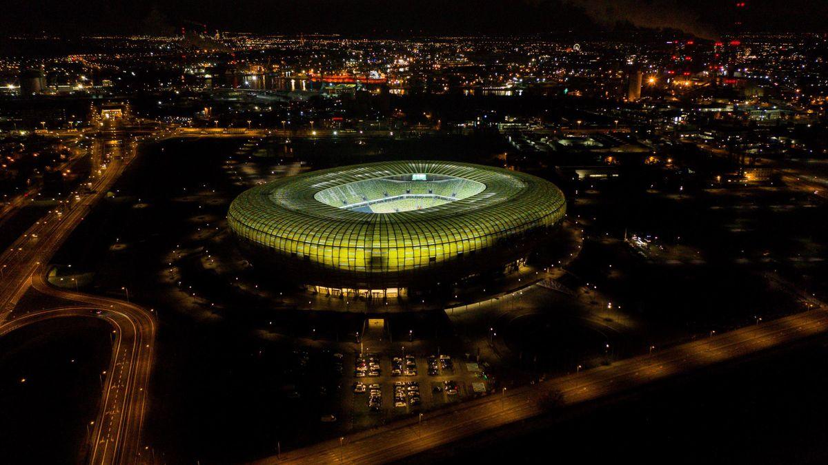 Visione dall'alto (con un drone) dell'Energa Stadium prima del match Lechia Gdansk-Lech Poznan - Getty Images