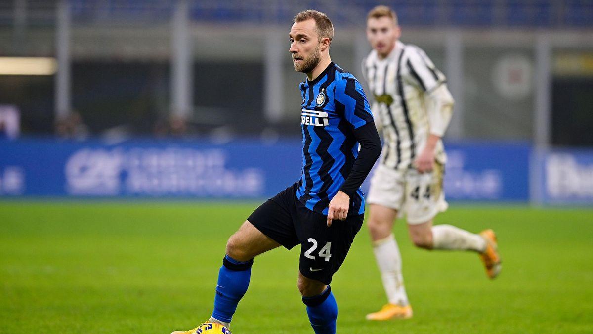 Christian Eriksen, Dejan Kulusevski, Juventus-Inter, Coppa Italia 2020-21, Getty Images