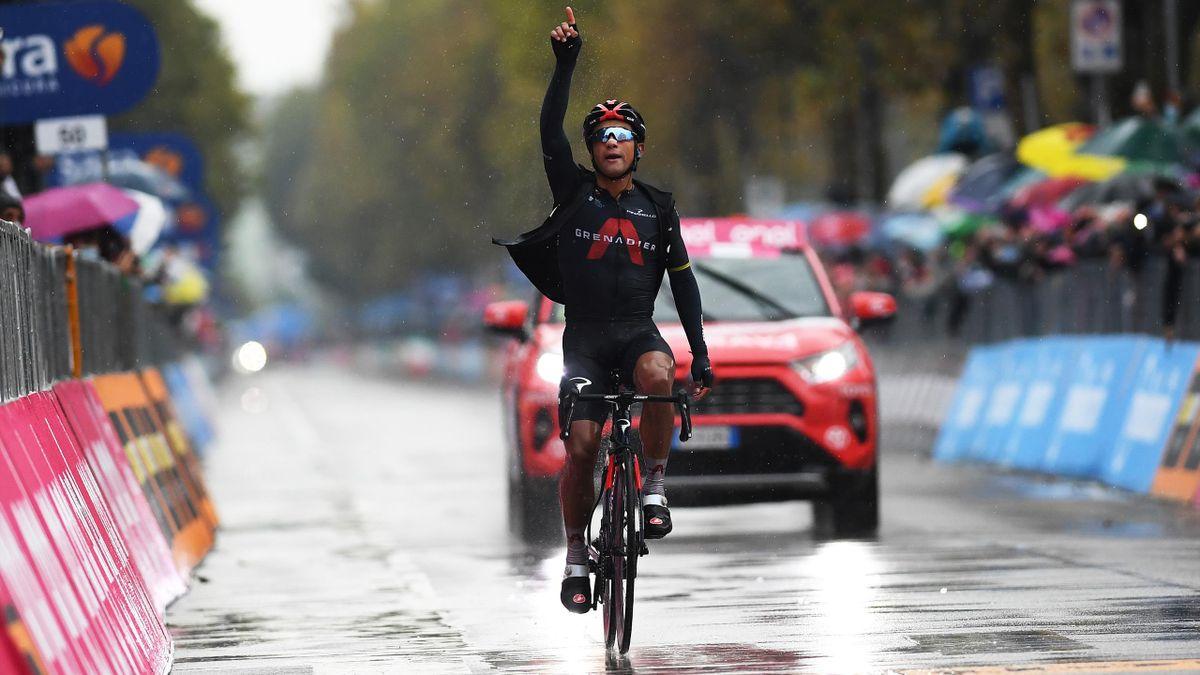 Vainqueur de la 12e étape du Giro jeudi, Jhonatan Narvaez a dédié sa victoire à Nicolas Portal.