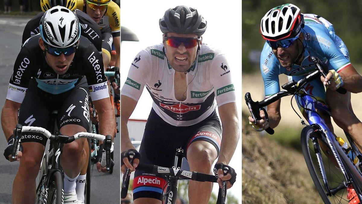Mark Cavendish, Tom Dumoulin, Vincenzo Nibali