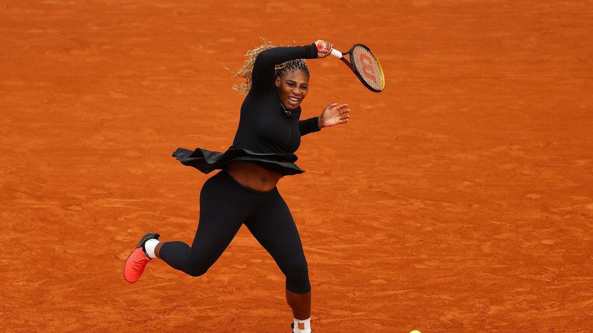 Serena Williams lors de son match du 1er tour contre Kristie Ahn / Roland-Garros 2020