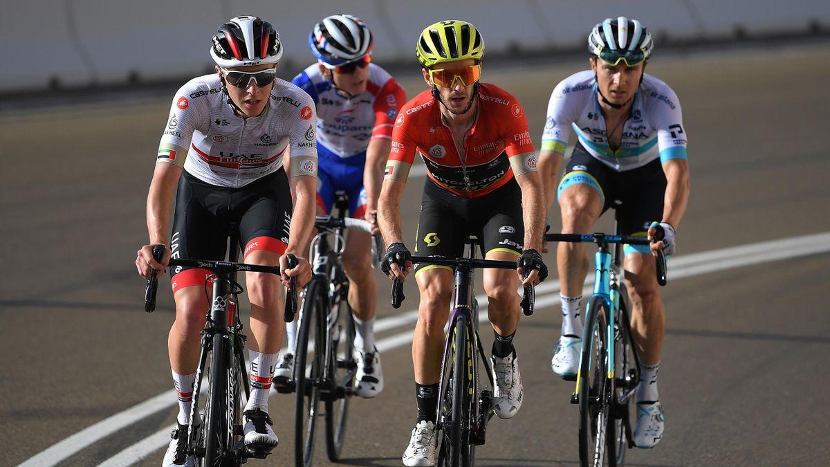 Adam Yates, Tadej Pogacar, Alexey Lutsenko, David Gaudu (UAE Tour)