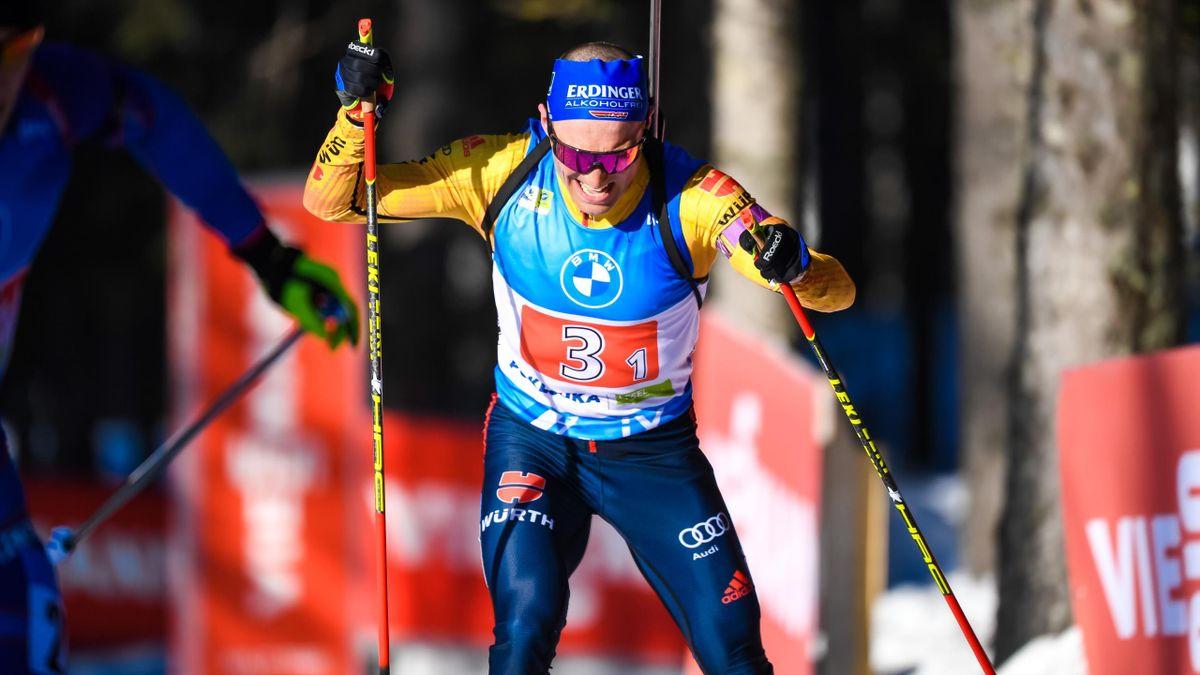 Erik Lesser bei der Biathlon-WM in Pokljuka.