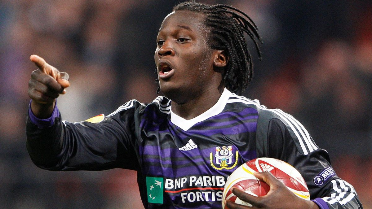 Romelu Lukaku playing for Anderlecht