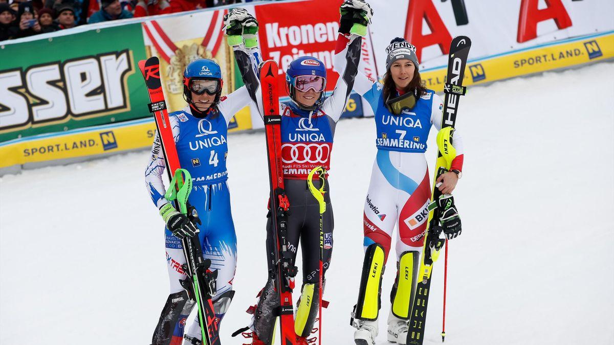 Petra Vlhova, Mikaela Shiffrin, Wendy Holdener (Semmering)