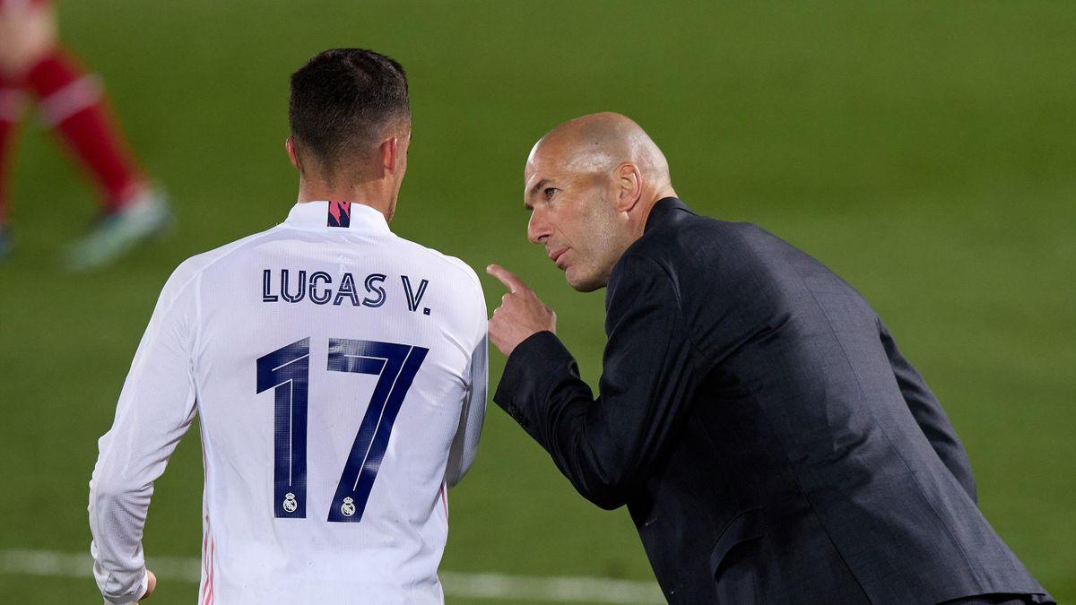 Lucas Vázquez und Zinédine Zidane