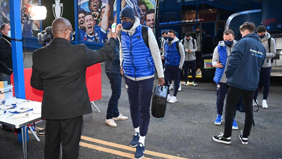 Chelsea go through Covid-19 protocols ahead of a Premier League game