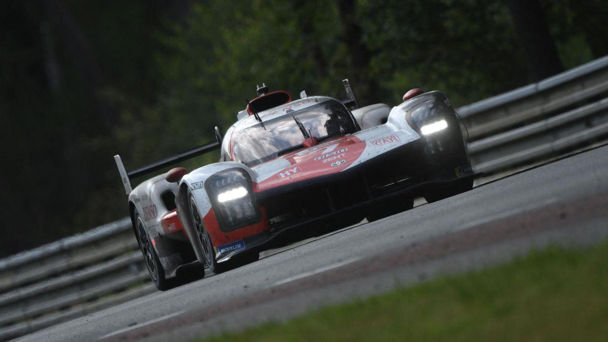 La Toyota n°7 lors des 24h du Mans 2021