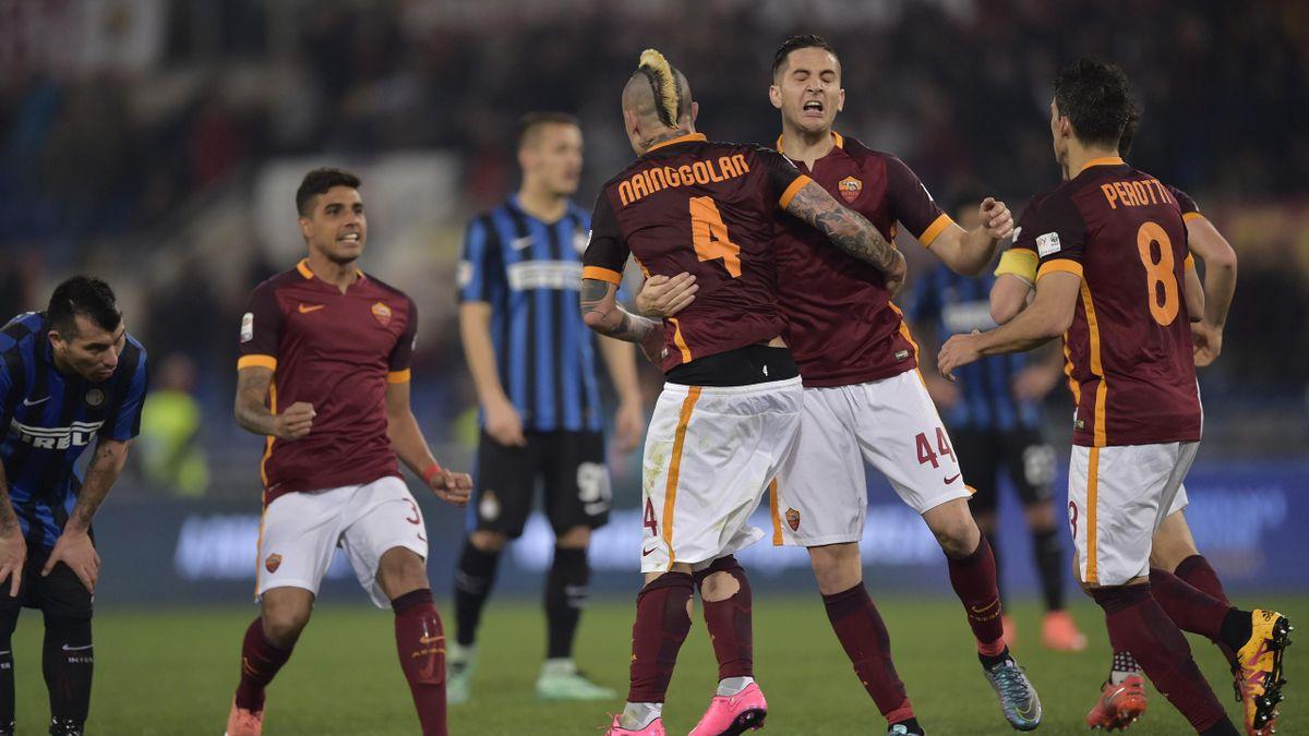 Radja Nainggolan Roma Inter 2016