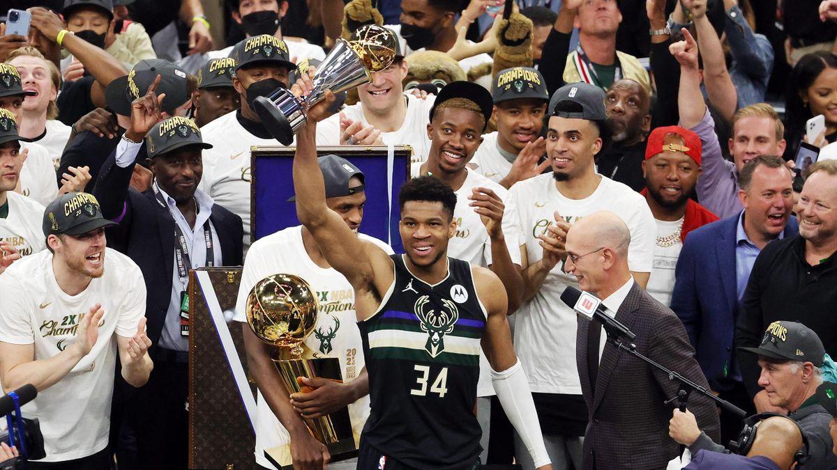 Giannis Antetokounmpo et les Milwaukee Bucks sont champions de NBA