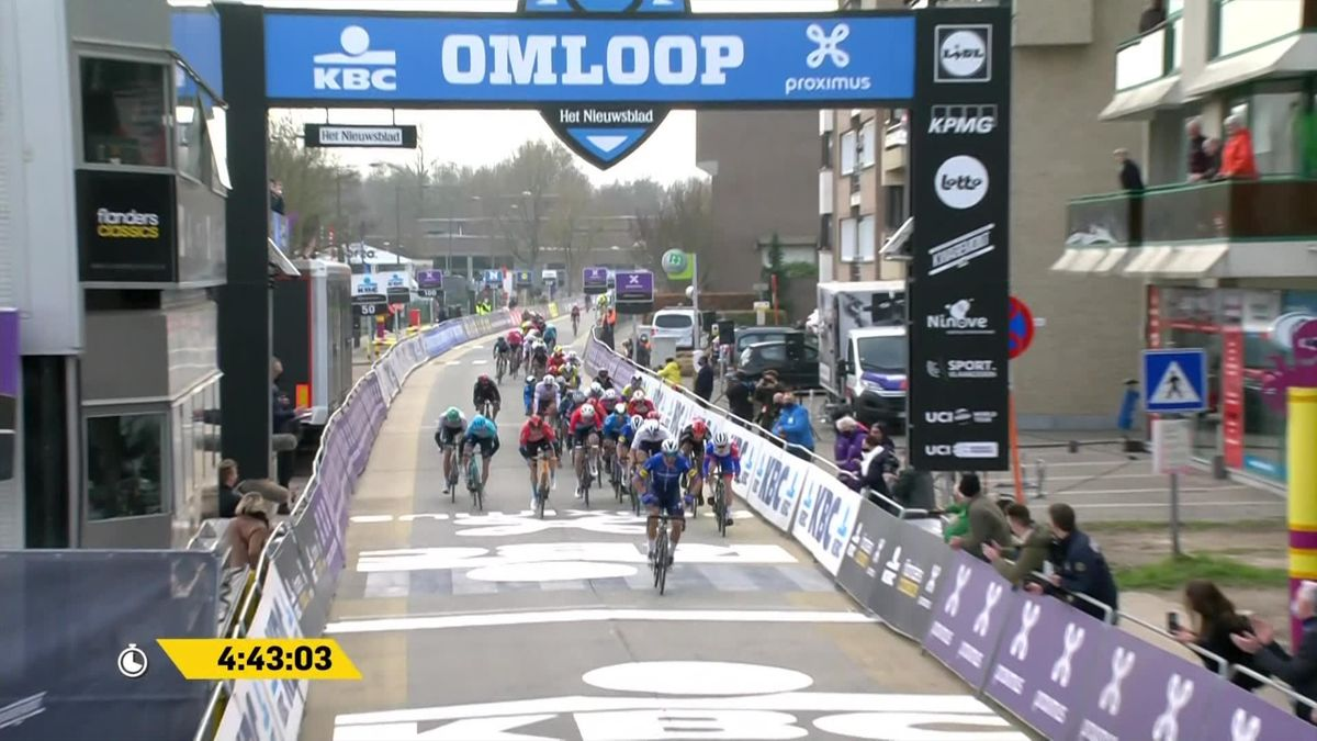 Sprintfinale beim Klassiker: Die Entscheidung beim Omloop