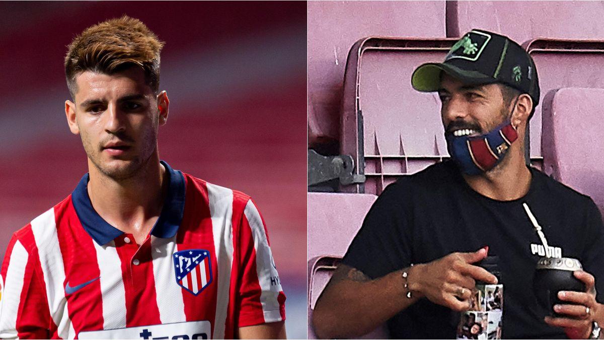 Alvaro Morata (L) Luis Suarez (R)