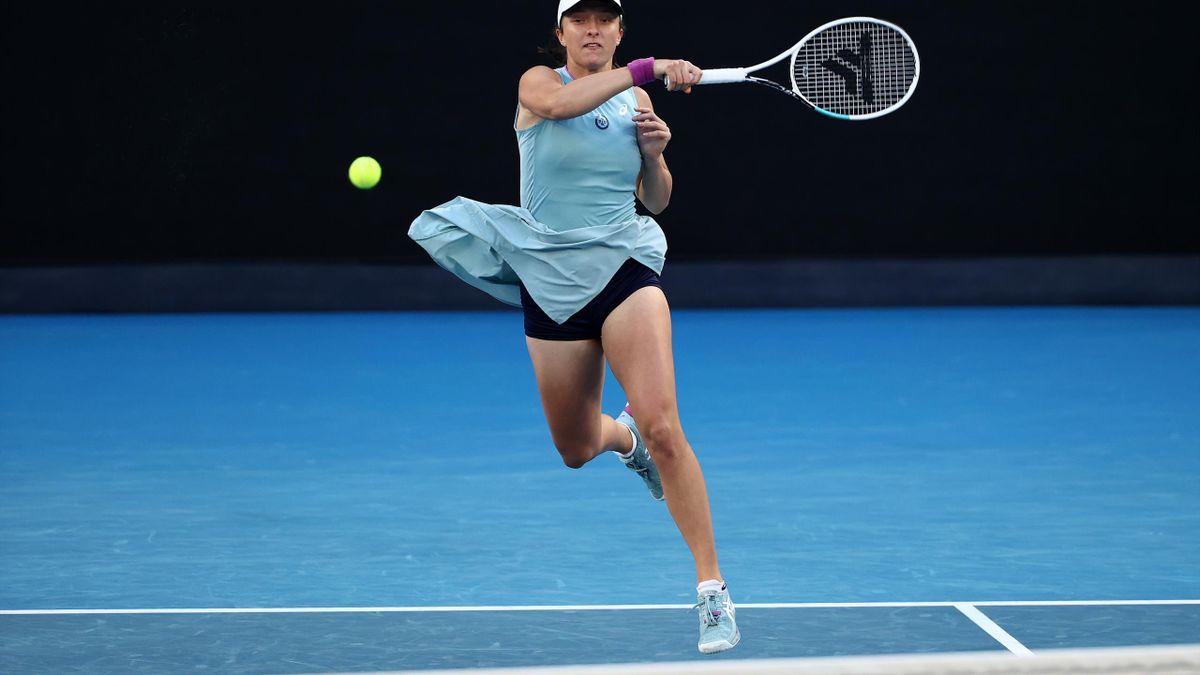 Australian Open : Swiatek vs Halep shots rally