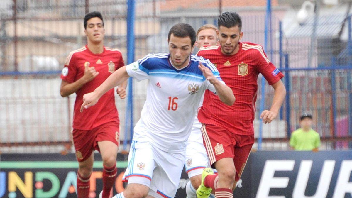 Сборные России и Испании на юношеском Евро