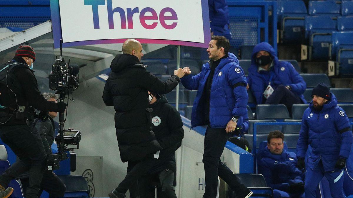 Guardiola și Lampard în Chelsea - City 1-3