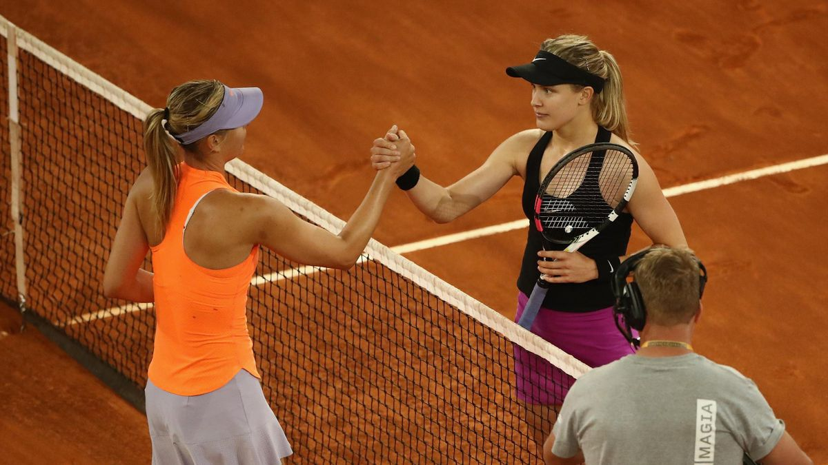 Bouchard-Sharapova   Mutua Madrid Open 2017