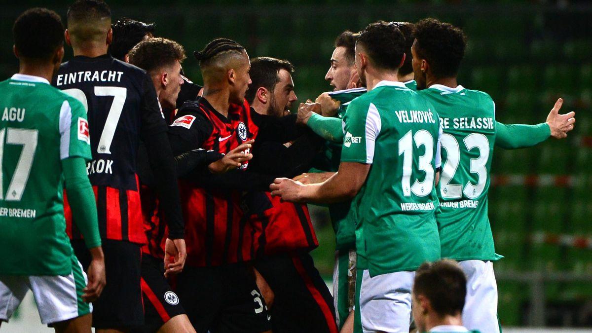 Werder Bremen und Eintracht Frankfurt lieferten sich ein hitziges Bundesligaduell
