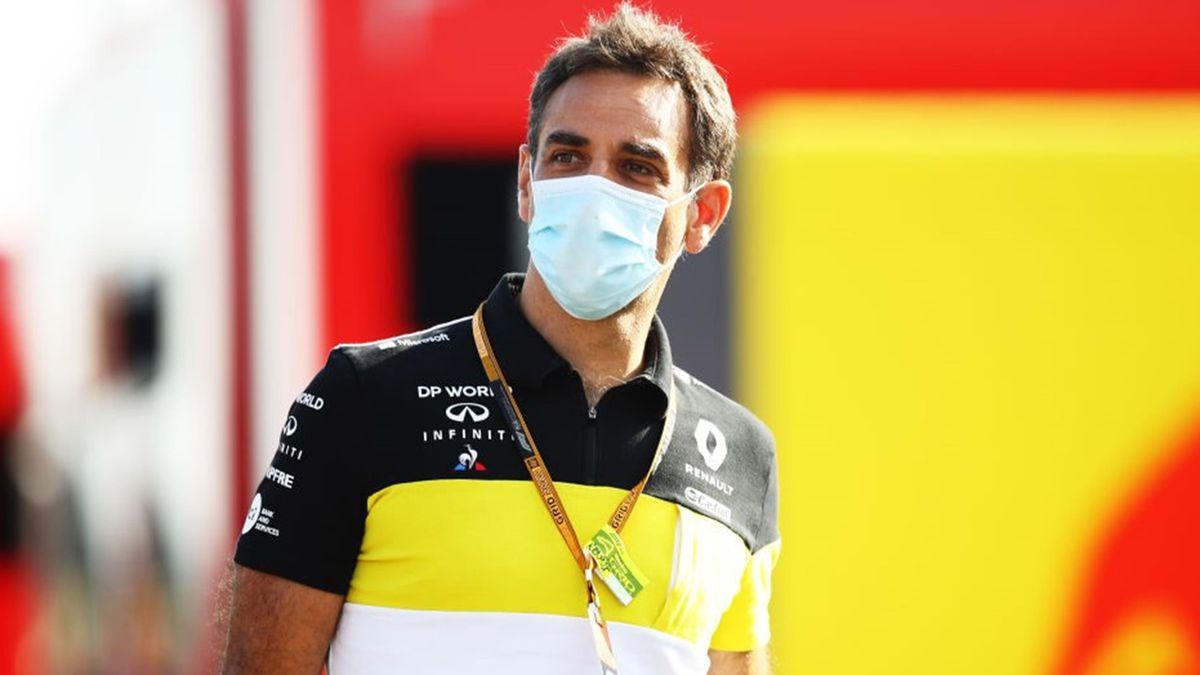 Cyril Abiteboul (Renault) au Grand Prix d'Espagne 2020