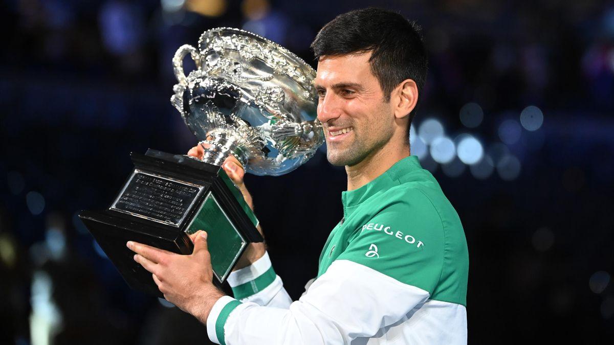 Novak Djokovic holte 2021 in Melbourne seinen neunten Australian-Open-Titel