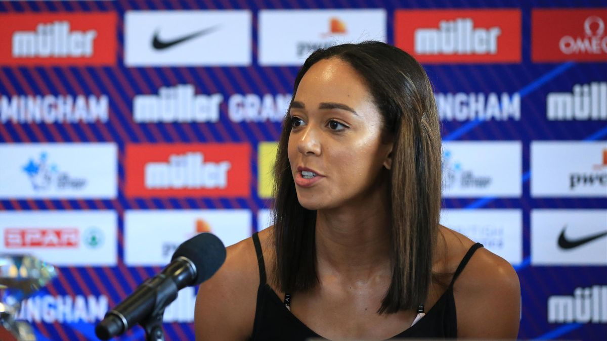 Katarina Johnson-Thompson of Great Britain during the media day