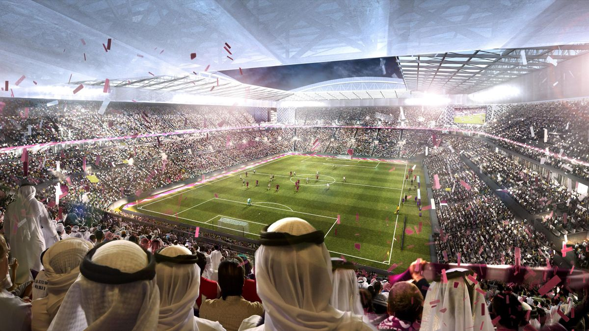 In this undated computer-generated artists impression provided by 2022 Supreme Committee for Delivery and Legacy, the Al Rayyan Stadium, a Qatar 2022 World Cup venue to be built in Al-Rayyan, Qatar.