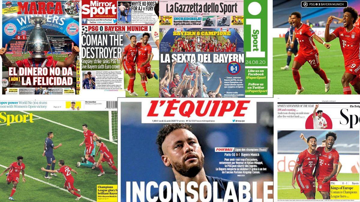 Die Pressestimmen zum Finale FC Bayern - PSG in der Champions League