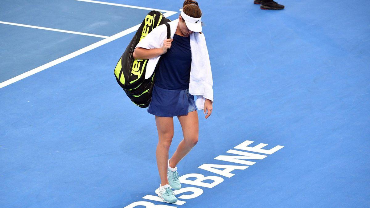 Jo Konta retires from Brisbane International
