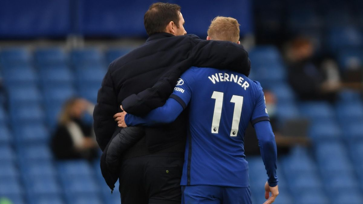 Frank Lampard (l.) und Timo Werner