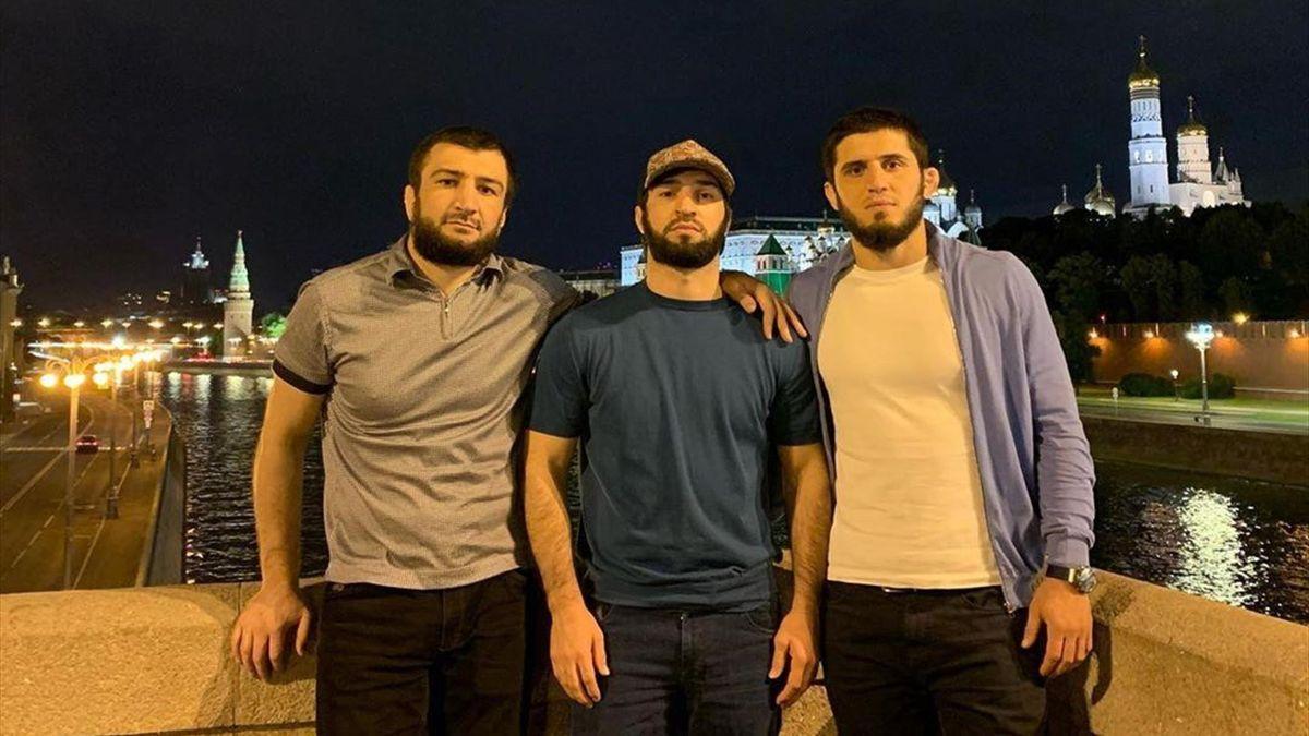 Ислам Махачев, Зубайра Тухугов и Абубакар Нурмагомедов