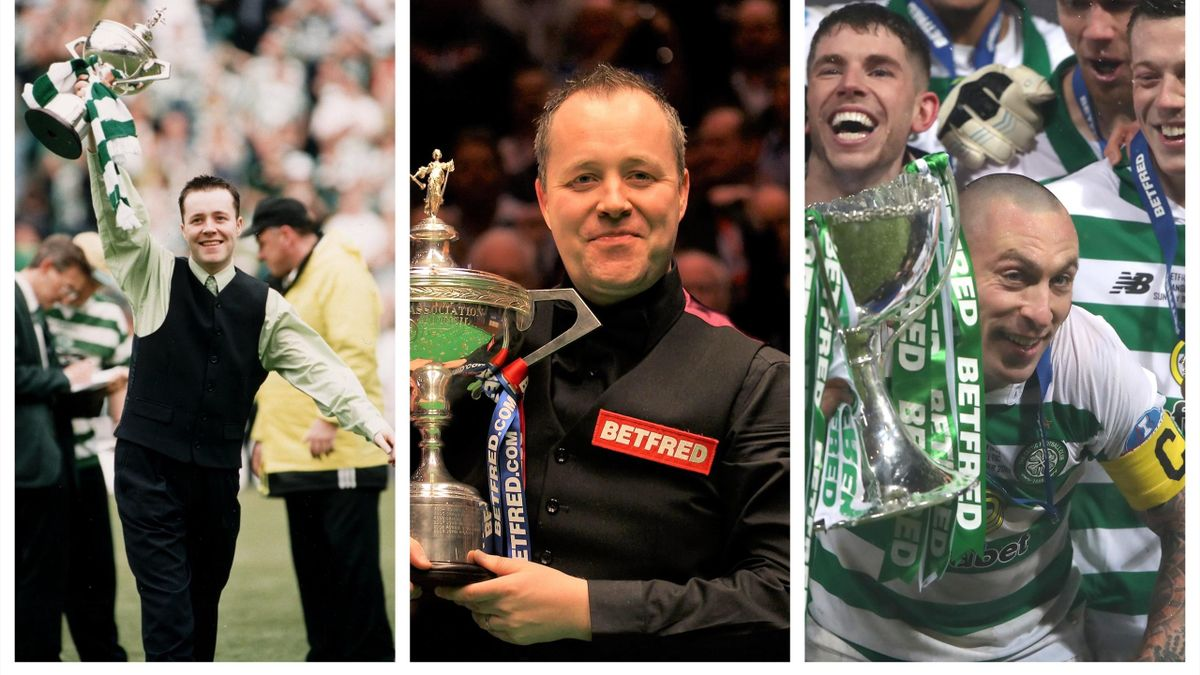 Celtic fan John Higgins is bidding to create snooker history.