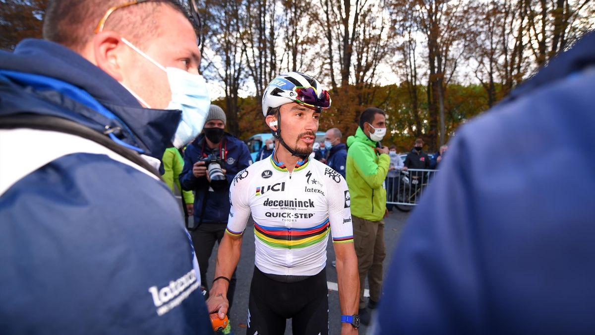 Julian Alaphilippe (Deceuninck-Quick Step), à l'arrivée de Liège-Bastogne-Liège 2020