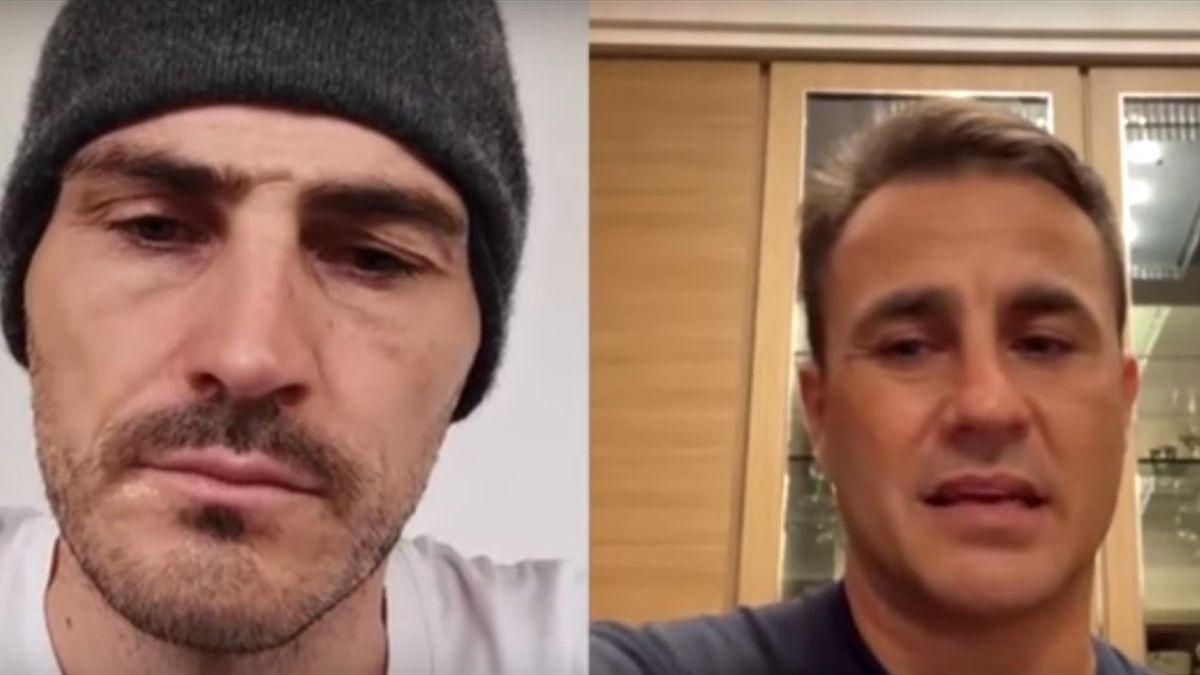 Iker Casillas and Fabio Cannavaro - Instagram