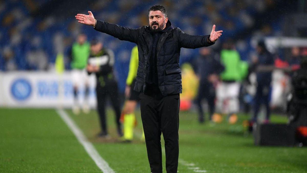 Gattuso - Napoli-Spezia - Serie A 2020/2021 - Getty Images