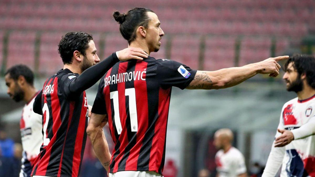 Zlatan Ibrahimovic - Milan-Crotone Serie A 2020-21