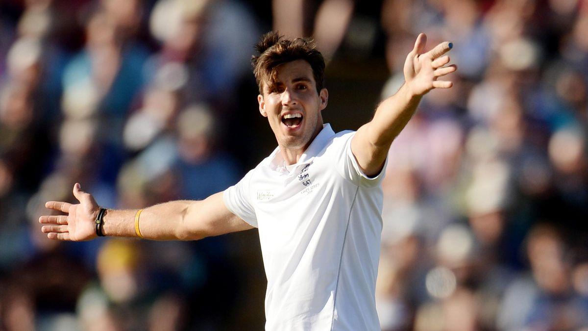 England's Steven Finn appeals