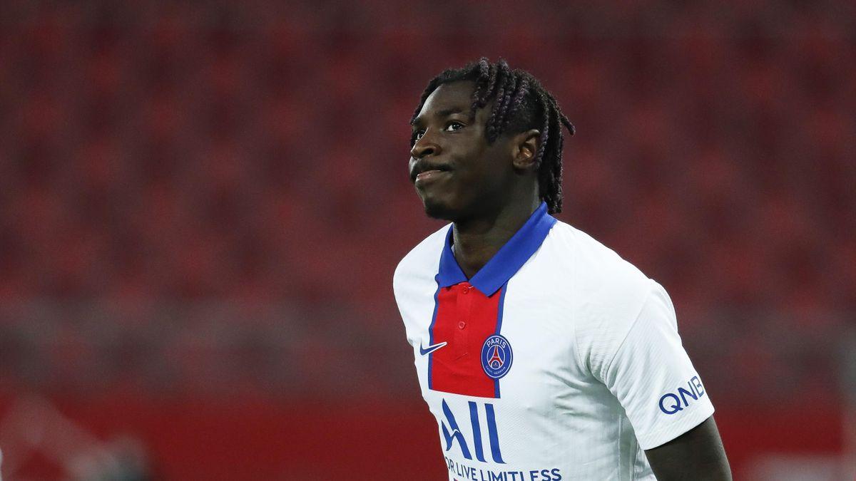 Moise Kean, l'attaquant du PSG.