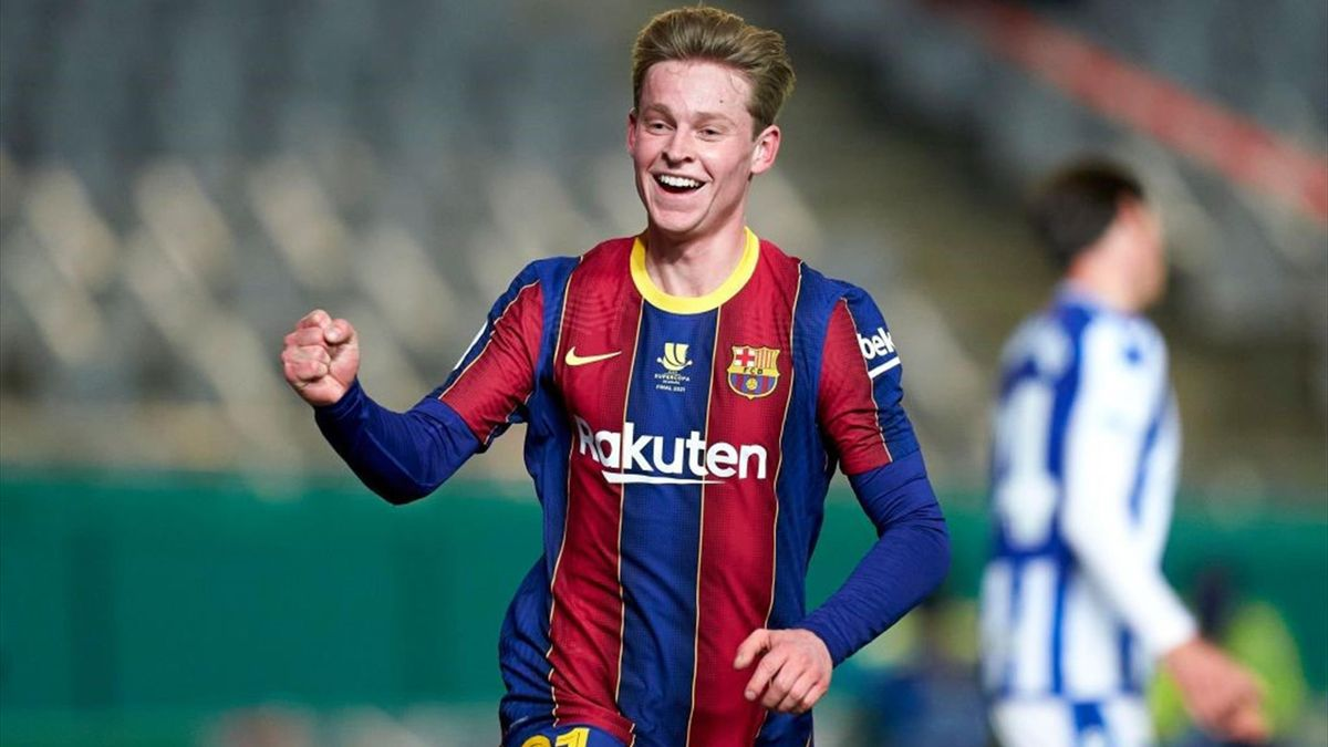 Frenkie de Jong - Real Sociedad-Barcellona - Supercoppa di Spagna 2020/2021 - Getty Images
