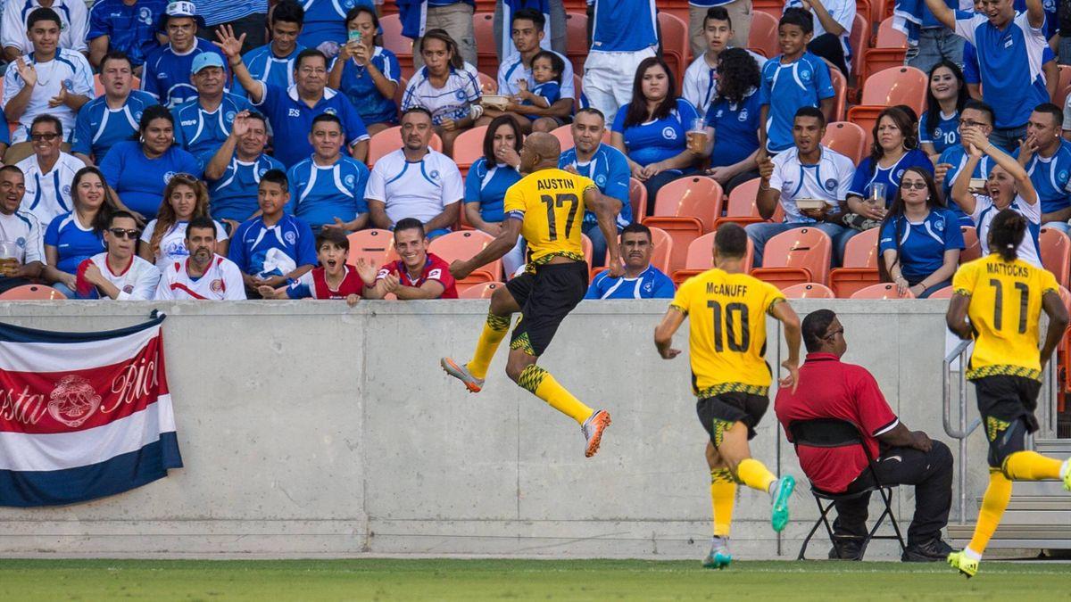 Jamaikas Nationalspieler durften gegen Kanada spät jubeln.