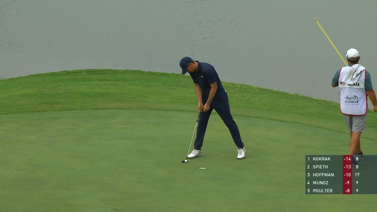 Golf CHARLES SCHWAB CHALLENGE DAY 4 - Nice approach Spieth 9th